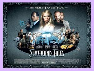 Wallace Shaw, Mandy Moore and John Laroquette...together at last in Southland Tales.