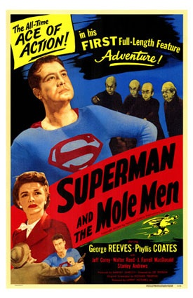 Original poster for 1951's Superman and the Mole-Men