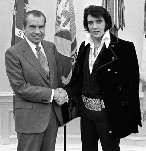 Nixon and Elvis.
