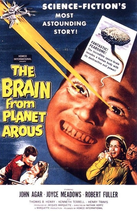 The Brain from Planet Arous original poster art