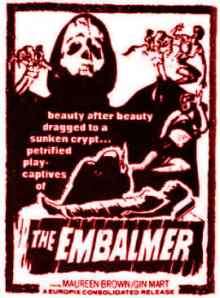 """""""The Embalmer"""" 1965"""
