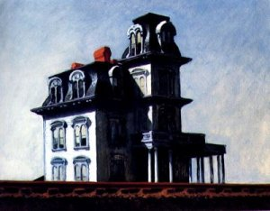 "Edward Hopper's ""House by the Railroad"" -- inspiration for the Bates house."