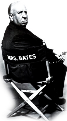 Hitchcock takes Mrs. Bates' seat.