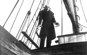 Max Schreck as Count Orlock in Nosferatu.