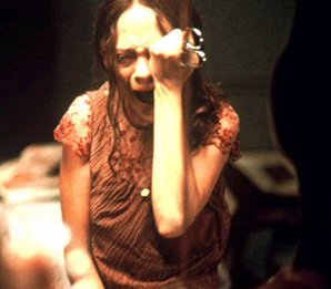 May (Angela Bettis) has got a little something in her eye.