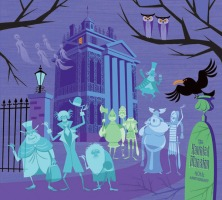 Graphic artist, Shagg, painted this to celebrate the Haunted Mansion's 40th Anniversary.